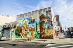 Kleurrijk muurschilderingmuurschilderij in New York royalty-vrije stock fotografie