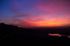 Kleurrijk na zonsondergang Royalty-vrije Stock Afbeeldingen