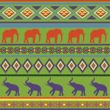 Kleurrijk naadloos abstract etnisch ornament. Stock Afbeelding