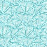 Kleurrijk naadloos abstract hand-drawn patroon, golvenachtergrond Stock Fotografie