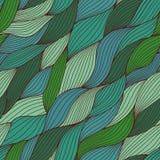 Kleurrijk naadloos abstract hand-drawn patroon, golvenachtergrond Stock Afbeelding