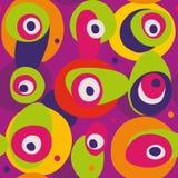 Kleurrijk naadloos divers grootte en vormenvlekkenpatroon Royalty-vrije Stock Afbeeldingen
