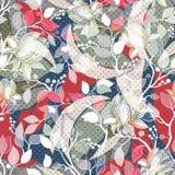 Kleurrijk naadloos Paisley patroon Decoratief Indisch ornament Bloemen behang stock illustratie