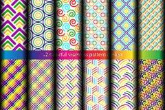 kleurrijk naadloos patroon 12 Stock Fotografie