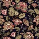 Kleurrijk naadloos patroon Bloemen achtergrond Bloemenbehang royalty-vrije illustratie