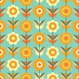 Kleurrijk naadloos patroon met bloemen royalty-vrije illustratie