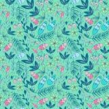 Kleurrijk naadloos patroon met boselementen vector illustratie
