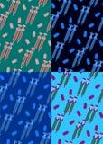 Kleurrijk naadloos patroon met de vectorillustratie van pillenelementen vector illustratie