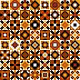 Kleurrijk naadloos patroon met geometrische cijfers stock illustratie