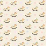 Kleurrijk naadloos patroon met hobbelpaarden Royalty-vrije Stock Foto's
