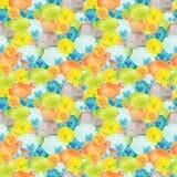Kleurrijk naadloos patroon met illustraties van waterverf de leuke sheeps royalty-vrije illustratie