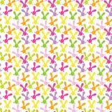 Kleurrijk naadloos patroon met Pasen-konijntje Stock Fotografie