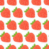 Kleurrijk naadloos patroon van aardbeien Stock Afbeeldingen