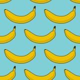 Kleurrijk naadloos patroon van bananen Stock Fotografie
