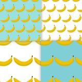 Kleurrijk naadloos patroon van bananen Stock Afbeeldingen