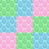 Kleurrijk naadloos patroon van de overladen eieren van Pasen Stock Afbeeldingen
