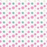 Kleurrijk naadloos patroon van vele sneeuwvlokken op witte achtergrond Royalty-vrije Stock Fotografie