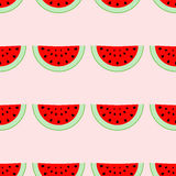 Kleurrijk naadloos patroon van watermeloenplakken Royalty-vrije Stock Afbeeldingen