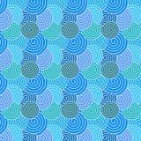 Kleurrijk Naadloos Spiraalvormig Patroon voor Abstracte Achtergrond royalty-vrije illustratie