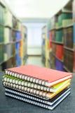 Kleurrijk notaboek Stock Foto's
