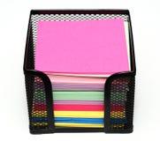 Kleurrijk notadocument Stock Foto