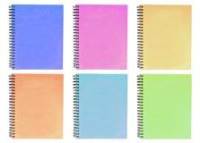Kleurrijk notitieboekje Stock Foto