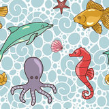Kleurrijk-oceaan-patroon royalty-vrije illustratie