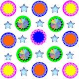 Kleurrijk ontwerp met blauwe ster Stock Afbeelding