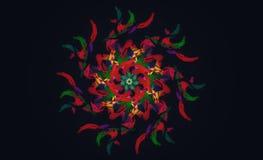Kleurrijk ontwerp met een zwarte achtergrond vector illustratie