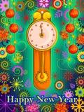 Kleurrijk ontwerp van Gelukkige Nieuwjaargroet stock illustratie