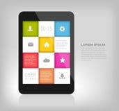 Kleurrijk ontwerp voor mobiele apparaten Stock Foto