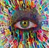 Kleurrijk Oog stock illustratie