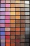Kleurrijk oogschaduwpalet Vele opties omhoog te maken zelf royalty-vrije stock foto's
