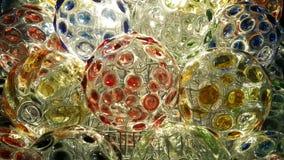 Kleurrijk op cirkel van kristallen bolachtergrond Stock Foto