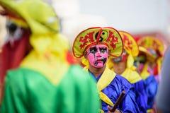 Kleurrijk op gezichten Royalty-vrije Stock Foto's