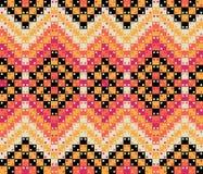 Kleurrijk optische illusie naadloos geometrisch vectorpatroon Het ontwerp van het oppervlaktepatroon stock illustratie