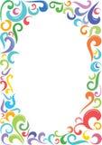 Kleurrijk Ovaal Frame Royalty-vrije Stock Foto's