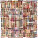 Kleurrijk overlappend tellerslijnen gebaseerd patroon Stock Foto