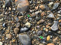Kleurrijk Overzees glas op de kust van Maine Royalty-vrije Stock Afbeelding