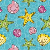 Kleurrijk overzees patroon stock illustratie