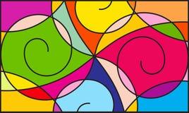 Kleurrijk patroon stock illustratie