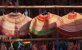 Kleurrijk patroon en details textielkostuum van Aziatische etnisch stock foto's