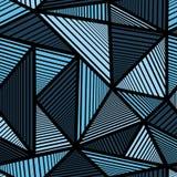 Kleurrijk patroon met blauwe driehoek Royalty-vrije Stock Foto's