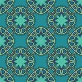 Kleurrijk patroon met kanten ornament royalty-vrije illustratie