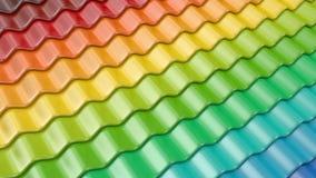Kleurrijk patroon van 3D daktegel. Architectuur Royalty-vrije Stock Fotografie