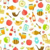 Kleurrijk patroon voor Rosh Hashanah Royalty-vrije Stock Afbeelding