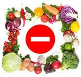 Kleurrijk plantaardig kader, gezond voedselconcept Stock Foto
