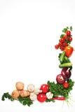 Kleurrijk plantaardig kader, gezond voedselconcept Stock Foto's