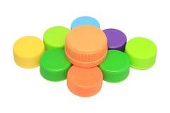 Kleurrijk plastic deksel Stock Afbeelding
