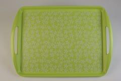 Kleurrijk plastic dienblad Royalty-vrije Stock Foto